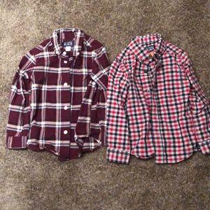 Toddler boys long sleeve button down shirts